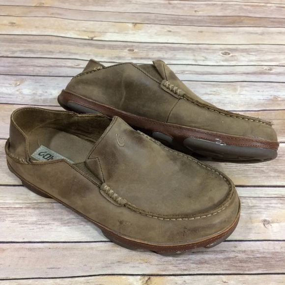 a5dae147ce8 Olukai Moloa Men s 10 Loafers Shoes Drop Heel. M 5a5ae163331627322ad10454
